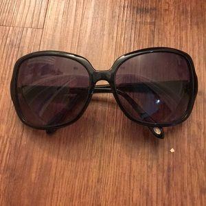 Oversized fossil sunglasses, Black